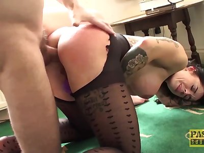 Roughly assfucked MILF submits to dom