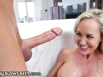 Brandi Love lets Stepson Finish in her Hot Mouth