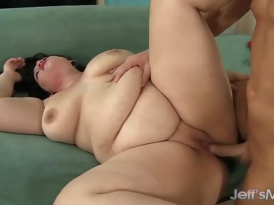 Fat Brunette Becki Butterfly Is Fucked Silly by a Bald Bastard