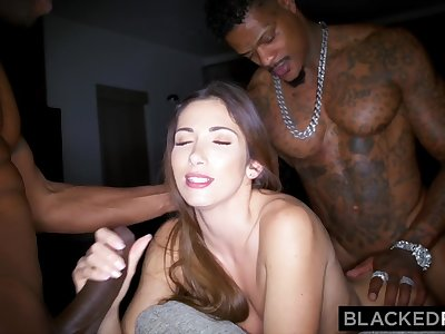 BLACKEDRAW French Girl Secret Hook Up With Two BBCs
