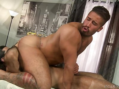 Hairy Boys Trey Turner & Ali Liam Suck Fuck & Eat Ass - HOT