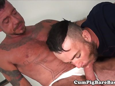 jock getting ass fucked in hot threesome