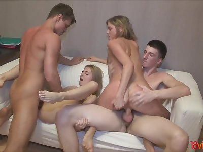 From blindfolded bj to foursome orgy
