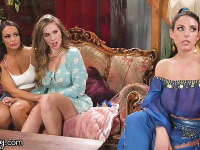 Lena Paul Grants Wish for Busty Sofi Ryan & Angela White -GIRLSWAY