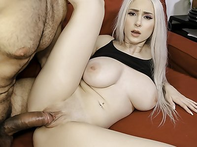 SisLovesMe - Huge-chested Blonde Gets Her Pussy Pounded By Stepbro