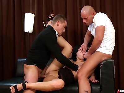 Lucy Bell Gets Double Teamed And Roughed Hard