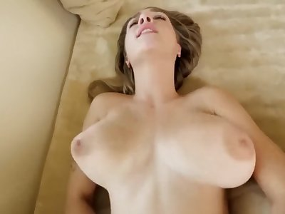 Hot Ash-blonde Stepsis Fucks Her Horny Stepbro