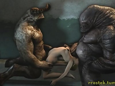 3D Monster Porno Animations