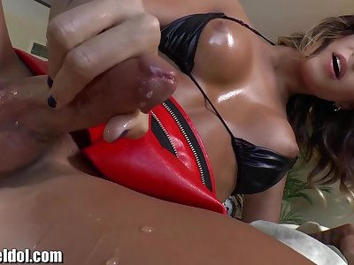 ShemaleIdol Transsexual Strap Fucked by Lady